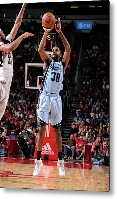 Nba Pro Basketball Metal Print featuring the photograph Troy Daniels by Bill Baptist