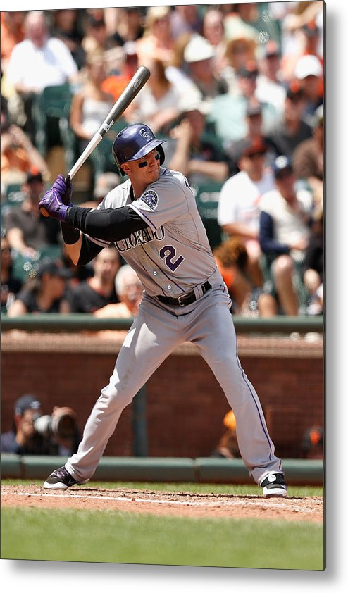 San Francisco Metal Print featuring the photograph Troy Tulowitzki by Lachlan Cunningham