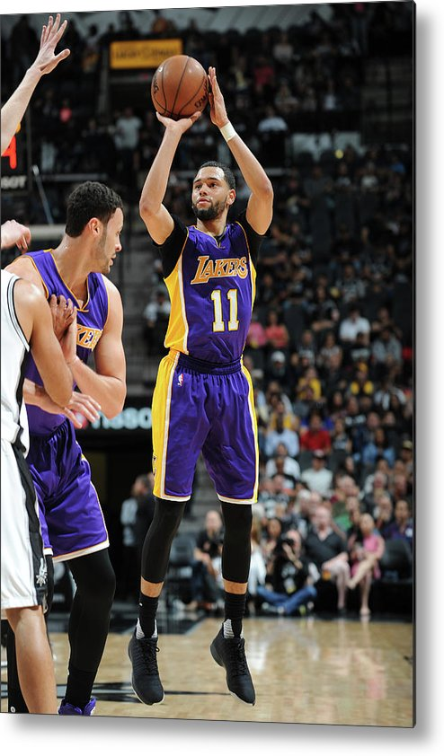 Nba Pro Basketball Metal Print featuring the photograph Tyler Ennis by Mark Sobhani