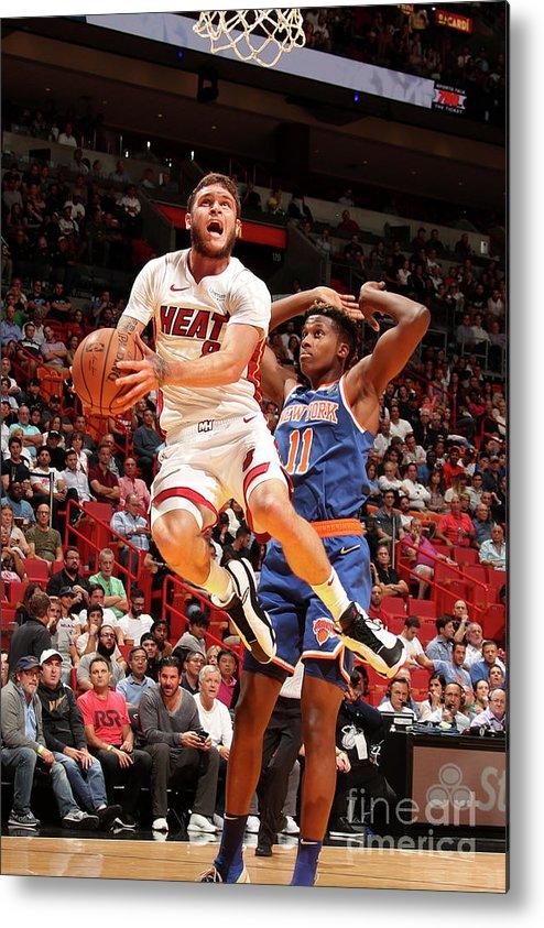 Nba Pro Basketball Metal Print featuring the photograph Tyler Johnson by Issac Baldizon