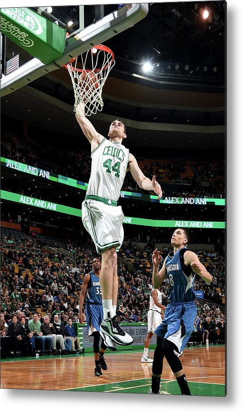 Nba Pro Basketball Metal Print featuring the photograph Tyler Zeller by Brian Babineau