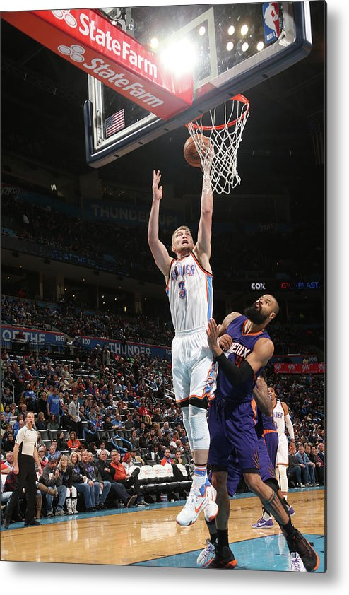 Nba Pro Basketball Metal Print featuring the photograph Tyson Chandler and Domantas Sabonis by Layne Murdoch