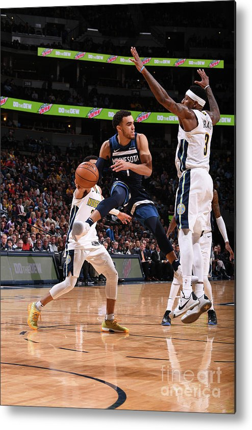 Nba Pro Basketball Metal Print featuring the photograph Tyus Jones by Bart Young