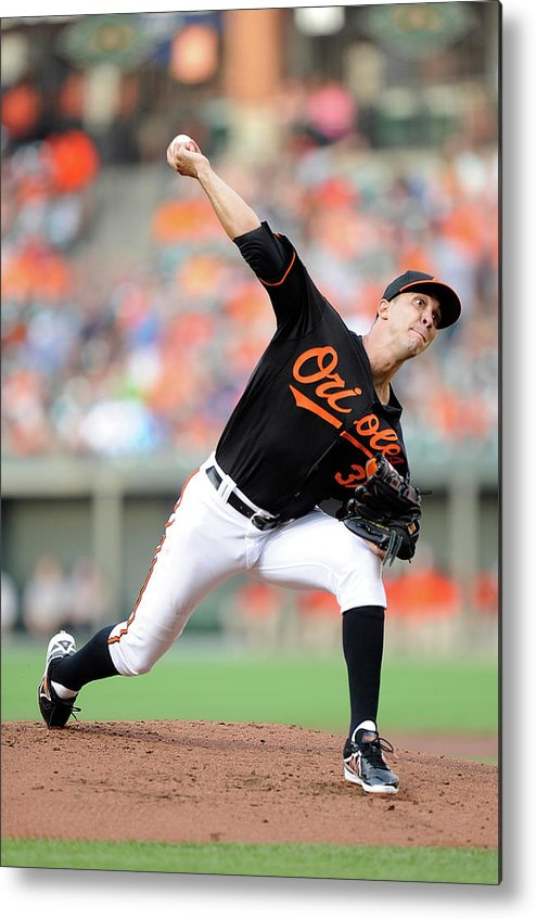 Second Inning Metal Print featuring the photograph Ubaldo Jimenez by Greg Fiume