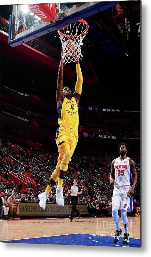 Nba Pro Basketball Metal Print featuring the photograph Victor Oladipo by Chris Schwegler