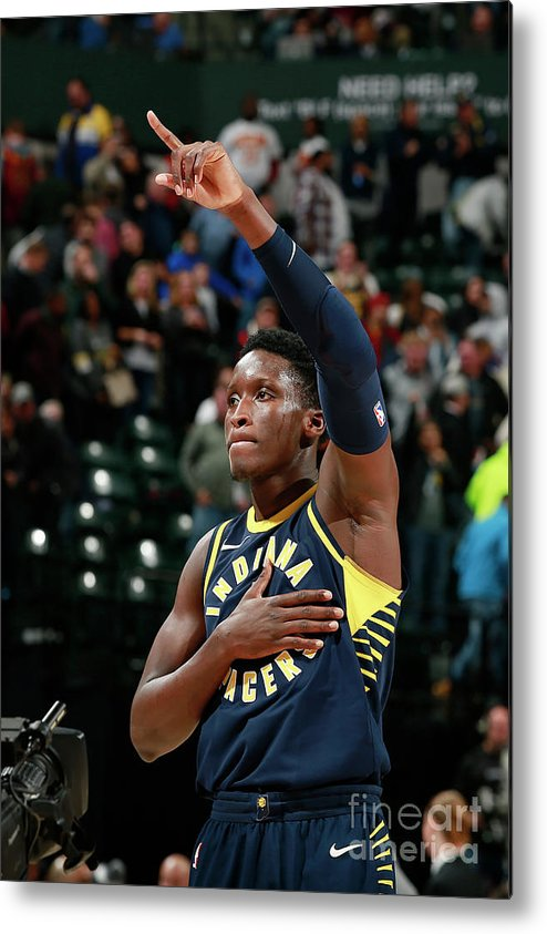Nba Pro Basketball Metal Print featuring the photograph Victor Oladipo by Jeff Haynes