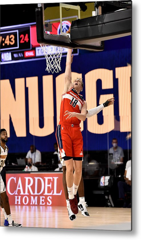 Nba Pro Basketball Metal Print featuring the photograph Washington Wizards v Denver Nuggets by David Dow