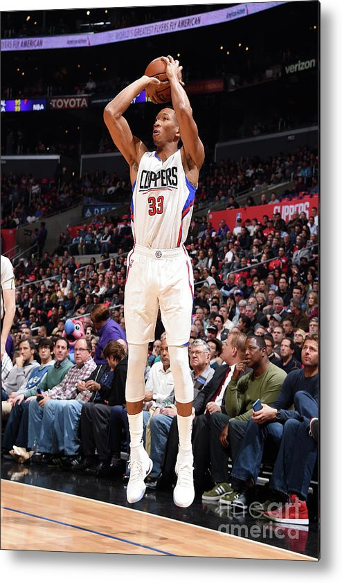 Nba Pro Basketball Metal Print featuring the photograph Wesley Johnson by Andrew D. Bernstein