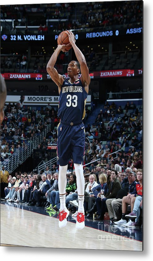 Smoothie King Center Metal Print featuring the photograph Wesley Johnson by Layne Murdoch Jr.