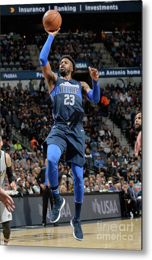Nba Pro Basketball Metal Print featuring the photograph Wesley Matthews by Mark Sobhani