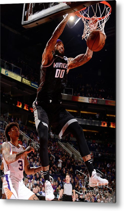 Nba Pro Basketball Metal Print featuring the photograph Willie Cauley-stein by Barry Gossage