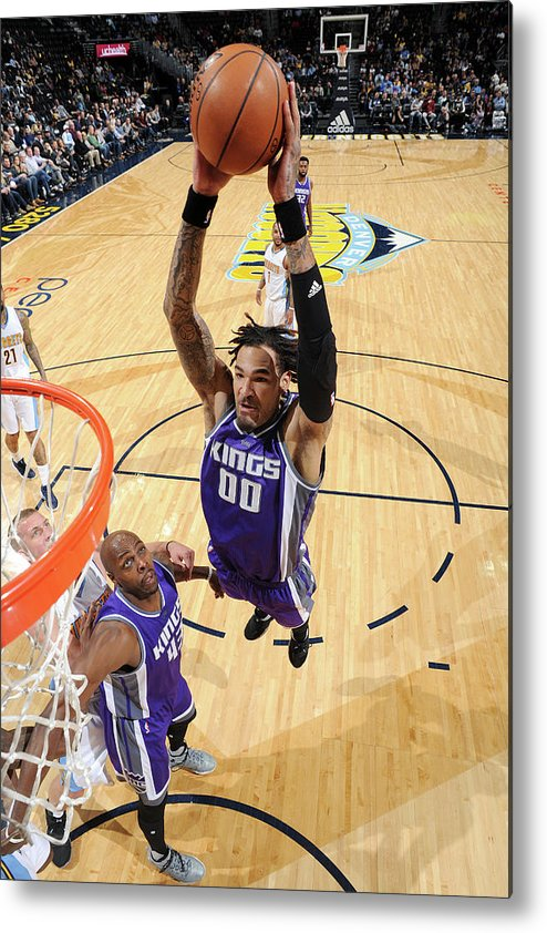 Nba Pro Basketball Metal Print featuring the photograph Willie Cauley-stein by Garrett Ellwood