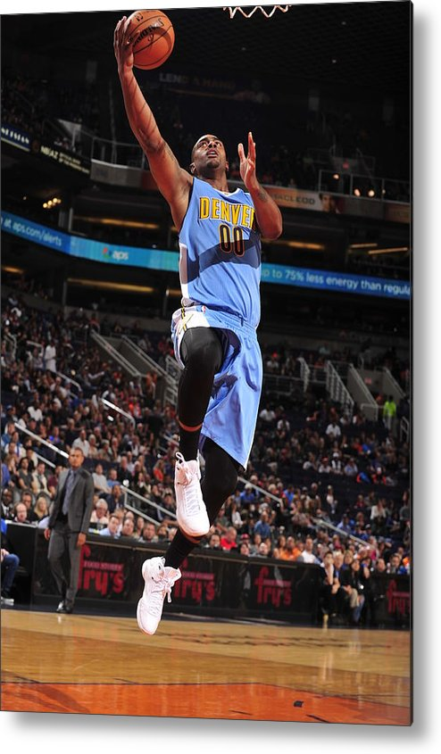 Nba Pro Basketball Metal Print featuring the photograph Wilson Chandler by Barry Gossage
