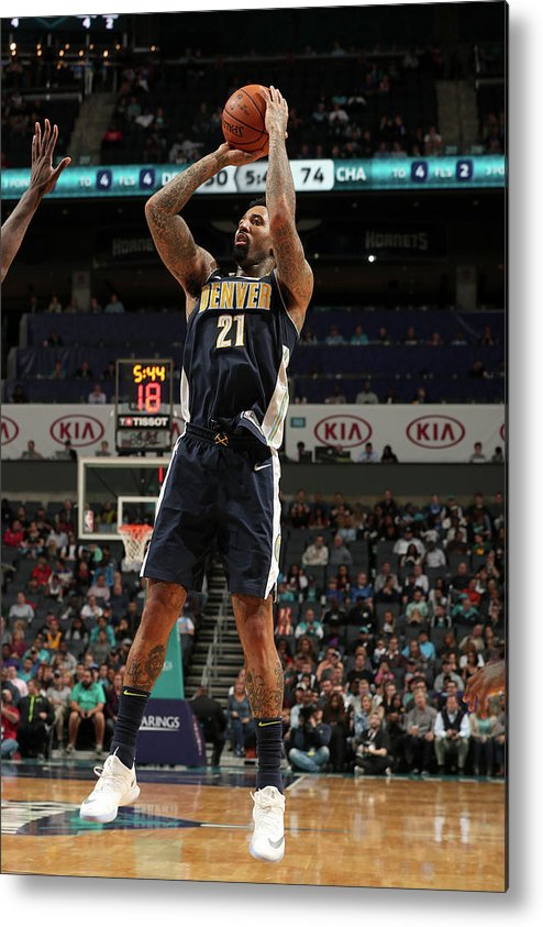 Nba Pro Basketball Metal Print featuring the photograph Wilson Chandler by Kent Smith