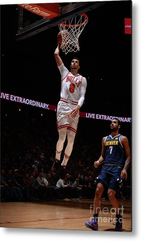 Chicago Bulls Metal Print featuring the photograph Zach Lavine by Bart Young