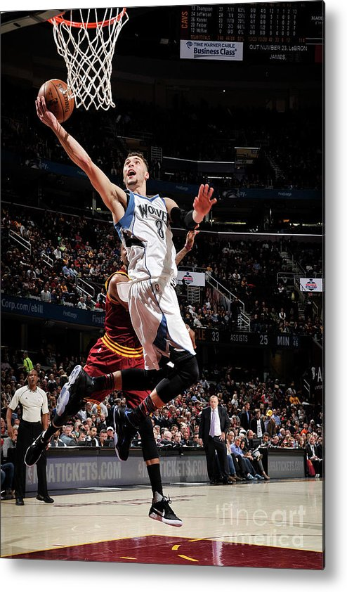 Nba Pro Basketball Metal Print featuring the photograph Zach Lavine by David Liam Kyle