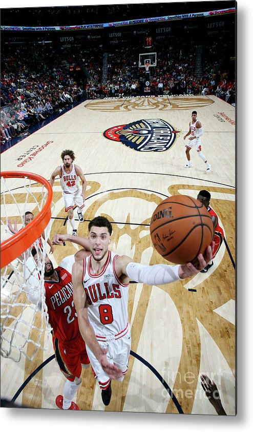 Chicago Bulls Metal Print featuring the photograph Zach Lavine by Layne Murdoch Jr.