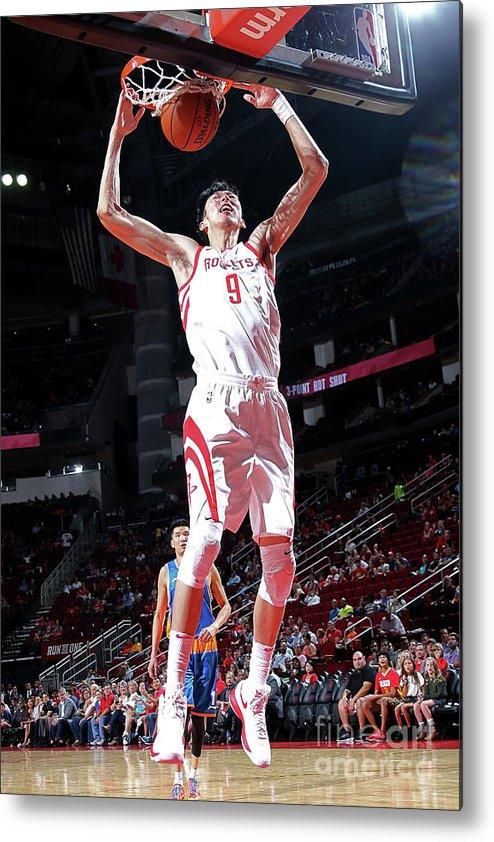 Nba Pro Basketball Metal Print featuring the photograph Zhou Qi by Layne Murdoch