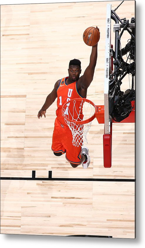 Nba Pro Basketball Metal Print featuring the photograph Zion Williamson by Nathaniel S. Butler