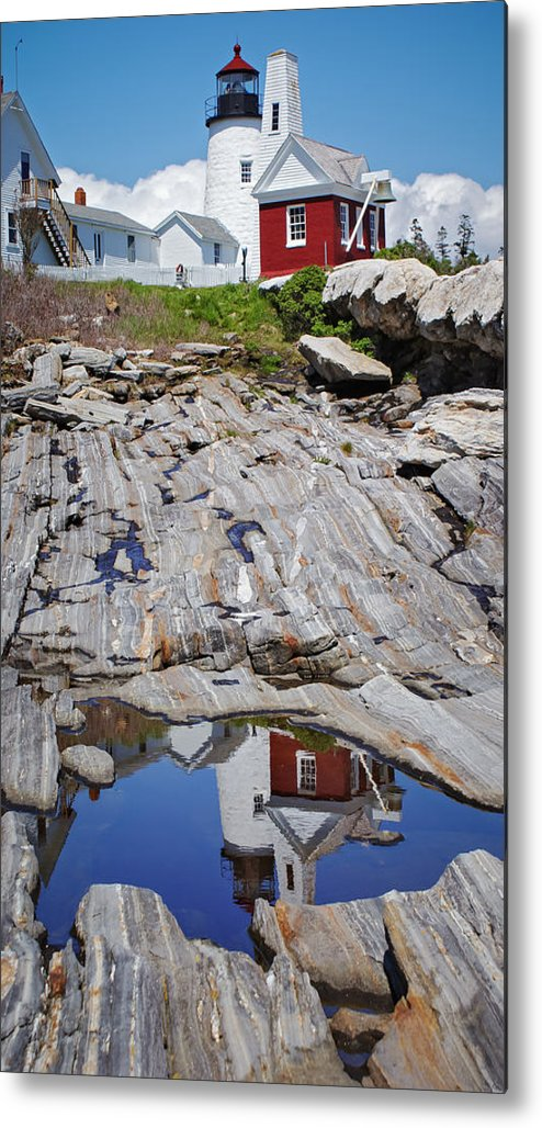 Lighthouse Metal Print featuring the photograph Reflections of Pemaquid by Brenda Giasson