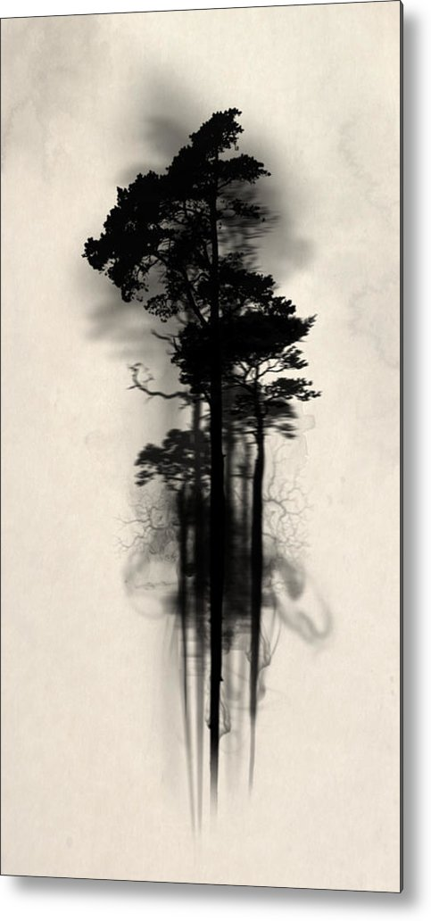 Forest Metal Print featuring the painting Enchanted Forest by Nicklas Gustafsson