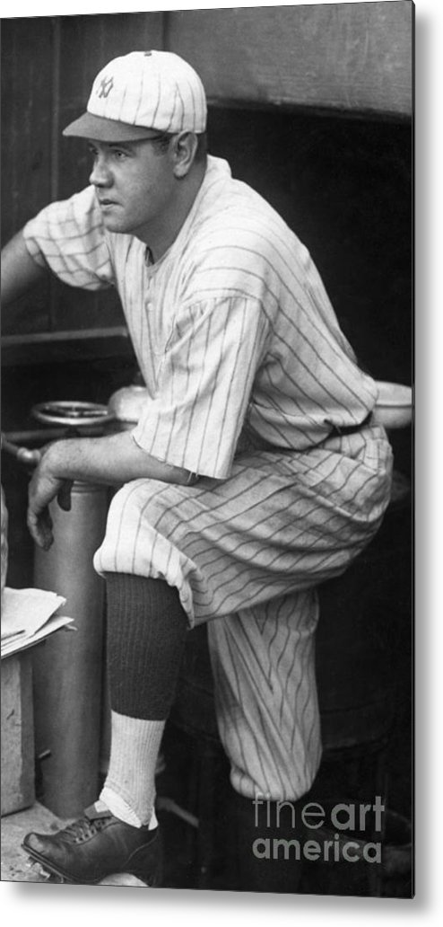People Metal Print featuring the photograph Babe Ruth by National Baseball Hall Of Fame Library