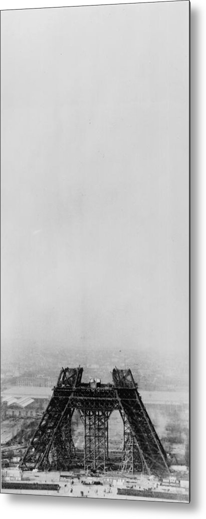 1880-1889 Metal Print featuring the photograph Eiffel Construction 4 by Henry Guttmann Collection