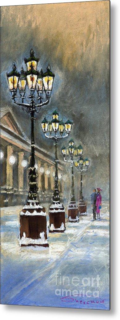 Pastel Metal Print featuring the painting Germany Baden-Baden Kurhaus by Yuriy Shevchuk
