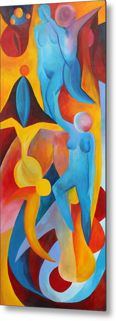 Bright Metal Print featuring the painting Transferring Wisdom by Peter Shor