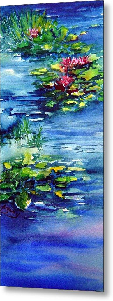 Waterlilies Metal Print featuring the painting Waterlilies by Joanne Smoley