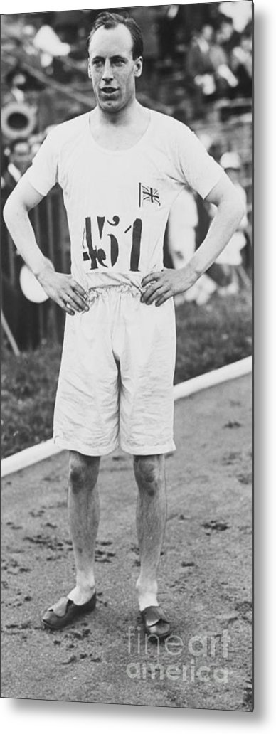 The Olympic Games Metal Print featuring the photograph 1924 Olympic 400-meter Winner Eric by Bettmann