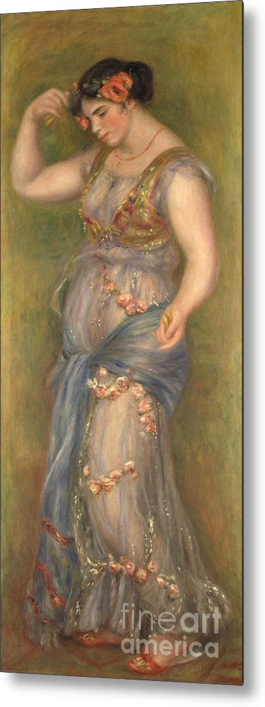 Oil Painting Metal Print featuring the drawing Dancing Girl With Castanets, 1909 by Heritage Images