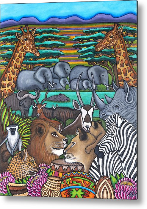Africa Metal Print featuring the painting Colours of Africa by Lisa Lorenz