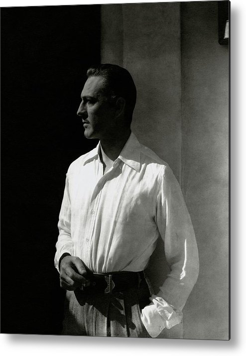 Actor Metal Print featuring the photograph Portrait Of John Barrymore by Edward Steichen