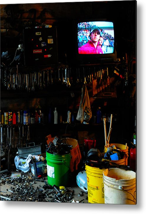 Mechanic Metal Print featuring the photograph You talkin' to me by Leon Hollins III