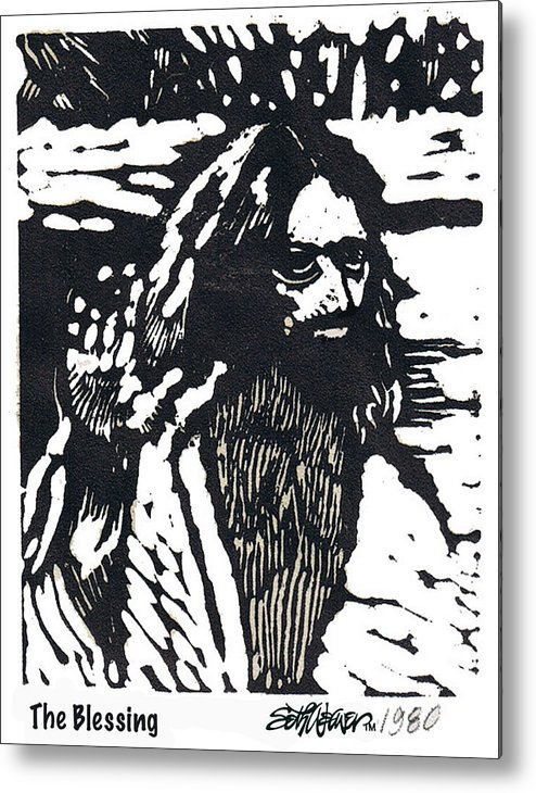Jesus Christ Metal Print featuring the mixed media The Blessing by Seth Weaver