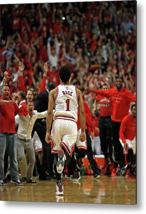 Chicago Bulls Metal Print featuring the photograph Cleveland Cavaliers V Chicago Bulls - by Jonathan Daniel