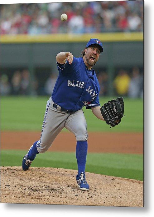 American League Baseball Metal Print featuring the photograph Toronto Blue Jays V Chicago White Sox by Jonathan Daniel