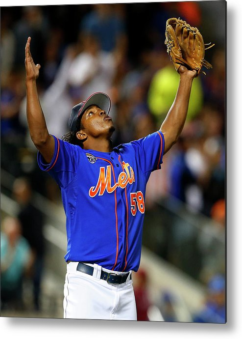 Ninth Inning Metal Print featuring the photograph Texas Rangers V New York Mets by Rich Schultz