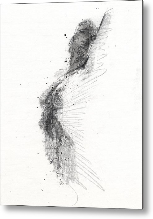 Drawing Metal Print featuring the drawing Untitled 353 by Chris N Rohrbach