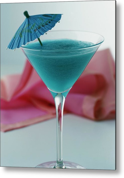 Beverage Metal Print featuring the photograph A Blue Hawaiian Cocktail by Romulo Yanes