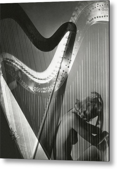 Lisa Fonssagrives Metal Print featuring the photograph A Nude Portrait Of Lisa Fonssagrives by Horst P. Horst