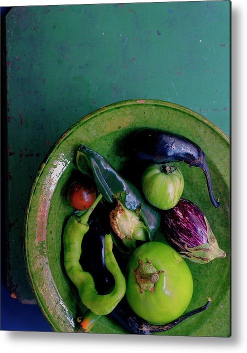 Fruits Metal Print featuring the photograph A Plate Of Vegetables by Romulo Yanes