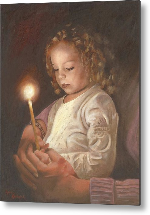 Advent Metal Print featuring the painting Advent Light by Anne Kushnick