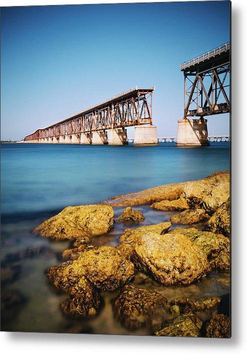 Seascape Metal Print featuring the photograph Bahia Honda State Park Florida by Ferrantraite