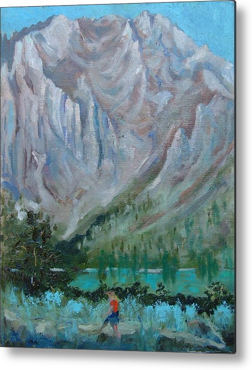 Landscape Metal Print featuring the painting Bear Bait by Bryan Alexander