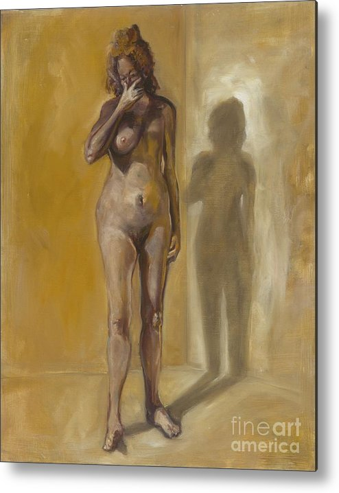 After Metal Print featuring the photograph Breast Cancer. Oil Painting by Photostock-israel