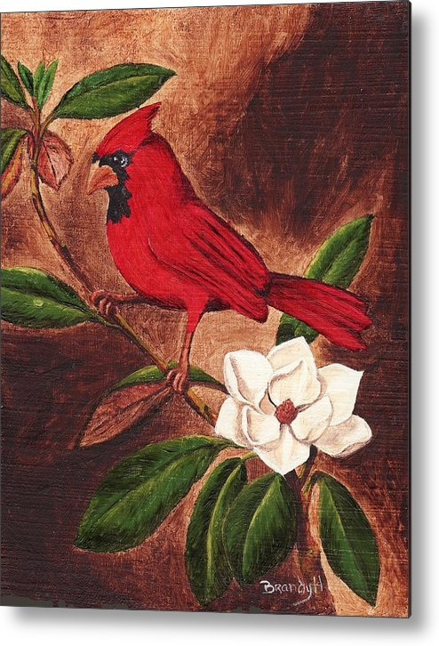 Birds Metal Print featuring the painting Cardinal II by Brandy House