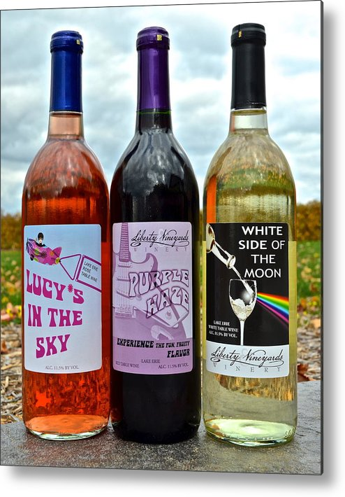 Classic Metal Print featuring the photograph Classic Rock Classic Wine by Frozen in Time Fine Art Photography