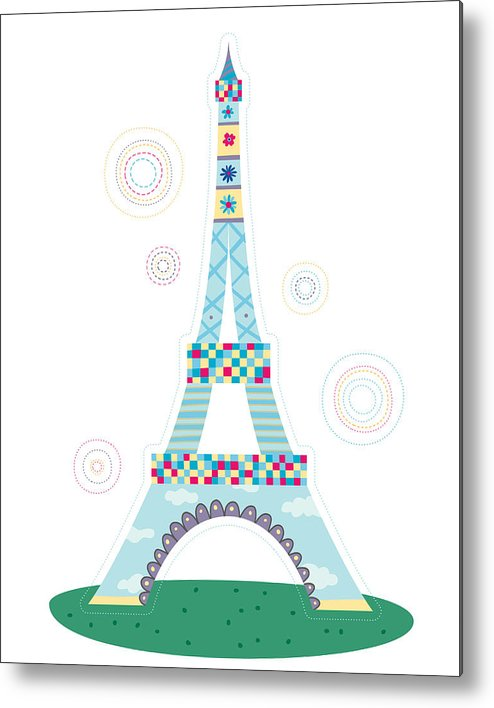 Event Metal Print featuring the digital art Close-up Of Tower by Eastnine Inc.